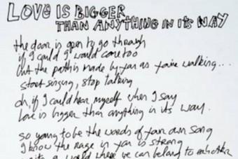 Milliókat fizettek egy kézzel írt dalszövegért