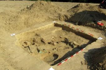 Római kori kocsisírra bukkantak Baranyában