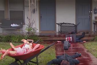 Olyan durva lett a halloweeni dekoráció, hogy a szomszédok kihívták a rendőröket