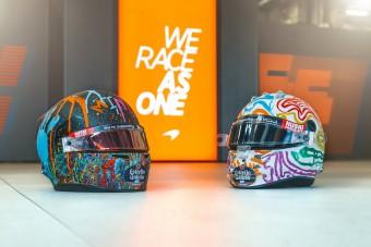 F1: Maguknak festették új sisakjaikat a McLaren-pilóták