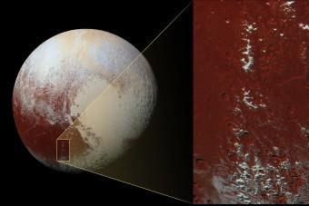 Kiderült, miért borítja hó a Pluto hegyeit