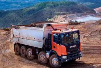 70 tonnás dömpert mutatott be a Scania
