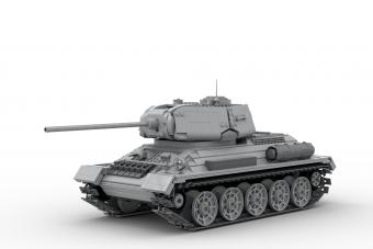 Lőni is tud a legóból összerakott T-34-es
