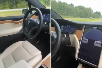 Elképesztő, mit művel vezetés helyett a Tesla-sofőr
