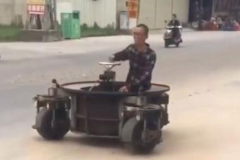 Földöntúli guruló izét épített egy kínai szaki
