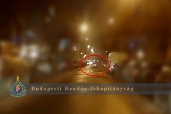 Driftelgetett a pesti autós, pechjére épp arra jártak a rendőrök