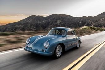 Korhű tuningnak néz ki, de ennél több van a kék 356-os Porsche mögött