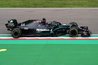 F1: Hamilton nyert Imolában, a Mercedes újra bajnok lett
