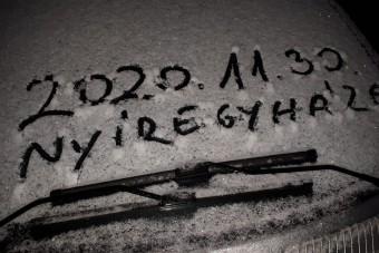 Így terítette be Magyarország keleti részét a hó hétfő reggel