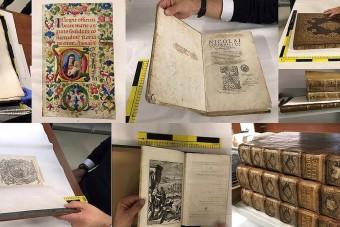 Egymilliárd forintot érő könyveket talált a rendőrség