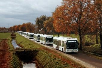 Forgalomba állt Európa legnagyobb elektromosbusz flottája