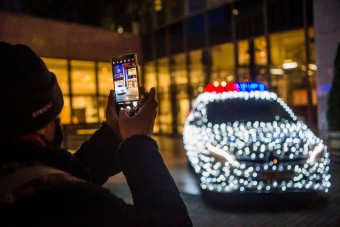 A rendőrautó, ami mindenki arcára mosolyt csal
