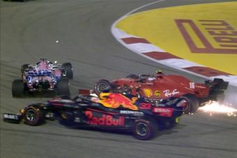F1: Leclerc-t megbüntették a rajtbalesetért