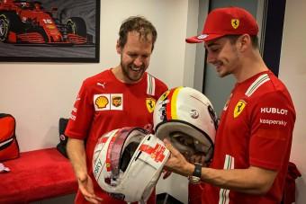 F1: Leclerc válaszolt egy bugyuta kérdésre Vettelről
