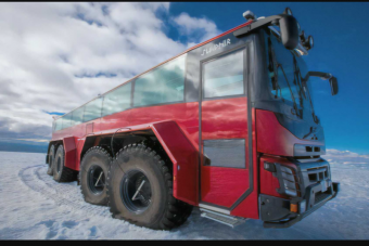 Rendkívüli busszal juthatunk el Izland egyik legszebb gleccseréhez