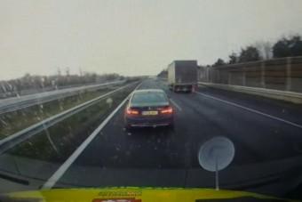 Mentőt büntetett egy BMW-s az M7-esen