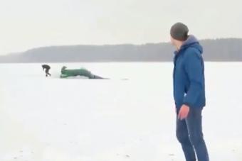 Túl látványosra sikerült a jégen pörgés