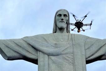 Látványos felvételek készültek a legismertebb brazil szoborról