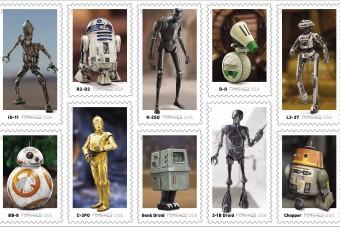 Droidok kerültek a bélyegekre Amerikában