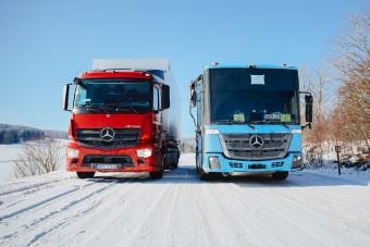 Kiderült, bírják-e a hideget a Merci e-teherautói