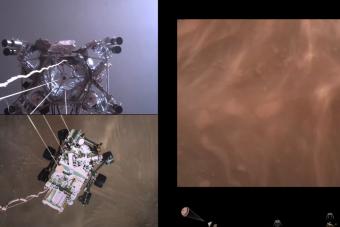 Látványos videót tett közzé a NASA a marsjáró leszállásáról