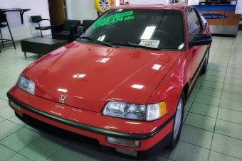 1,6 millió kilométert futott ez a piros Honda CRX, de meg se látszik rajta