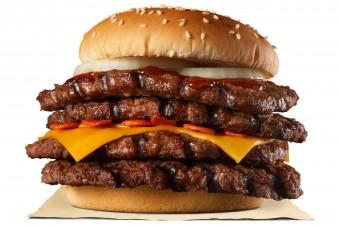 Hatalmas hamburgerekkel támad a gyorsétteremlánc