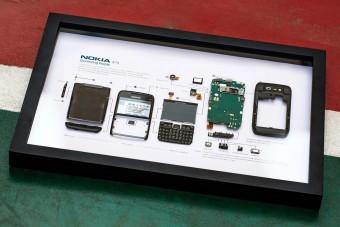 Menő faldísz lehet a régi okostelefonból