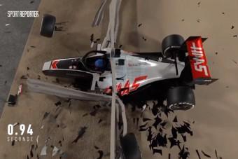 Lemodellezték, így történt az F1-es horrorbukás