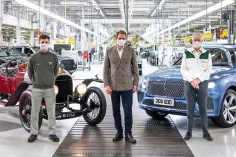 Elkészült a 200 ezredik Bentley
