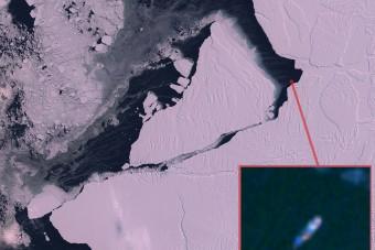 Körbehajózta a gigantikus antarktiszi jéghegyet egy kutatóhajó