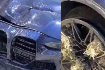 Valaki máris összezúzott egy új BMW M3 Competitiont