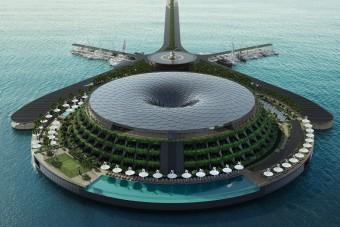 Egyszerre lebeg és forog a jövő luxushotele