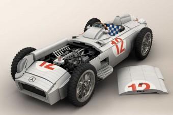 Történelmi F1-es Mercedest építettek LEGO-ból