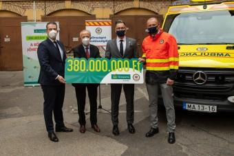 Soha nem látott adományt kaptak a hazai mentők