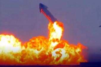 Most a leszállás után robbant fel Musk új rakétája