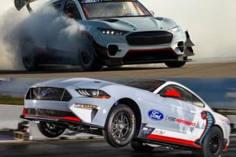 Sokakat biztos lelomboz ez a két, egymás ellen küzdő, 1400 lóerős Ford Mustang