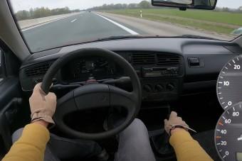 1 milliót futott, gyári dízel Golf akasztja a kilométerórát az Autobahnon