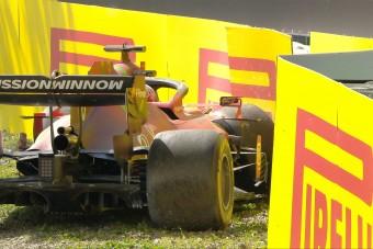 F1: Leclerc összetörte a Ferrarit hazai pályán