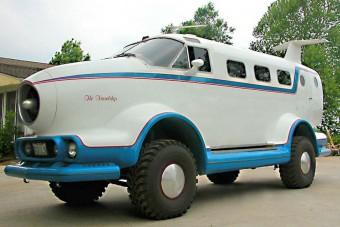 A szárazföldi repülés élményét próbálja visszaadni ez a furcsa Jeep