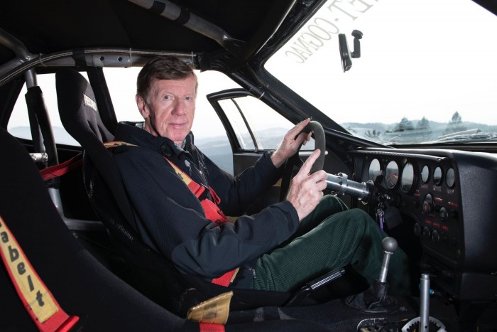 Walter Röhrl was able to beat him with his 40-year-old race car 4