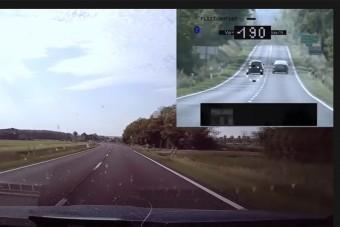 Feleségére akarta kenni a gyorshajtást, mikor megelőzte a rendőrt a BMW-s