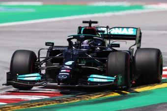 F1: Történelmet írt Hamilton a spanyol időmérőn