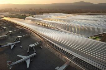 Akár űrhajók otthona is lehetne ez a repülőtér