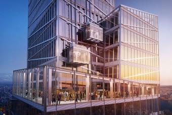 Üvegliftből nyílik csodás kilátás New Yorkra