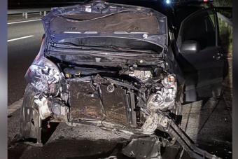 Felöklelték hátulról az M7-esen, kamera rögzítette az esetet
