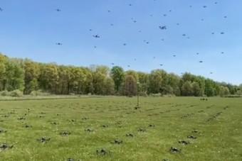 Bámulatos, ahogy drónok százai egyszerre szállnak fel
