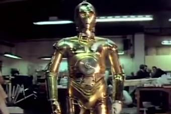 Ritka felvétel került elő az első Star Wars forgatás előkészületeiről