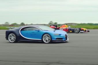 Legyőzik-e egy F1-es autóval az 1500 lóerős Bugattit?