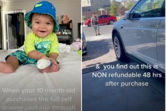 Borsos számlát hozott össze a 10 hónapos kisfiú, aki édesanyja Tesláját frissítgette